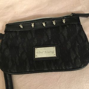 Betsy Johnson's  small bag black with silver trim